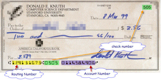 Routing Number on Checks